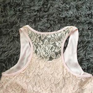 Charlotte Russe Tops - Charlotte Russe Light Pink Floral Tank